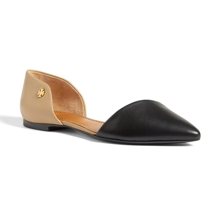 TORY BURCH Leather Flat, Main, color, 008
