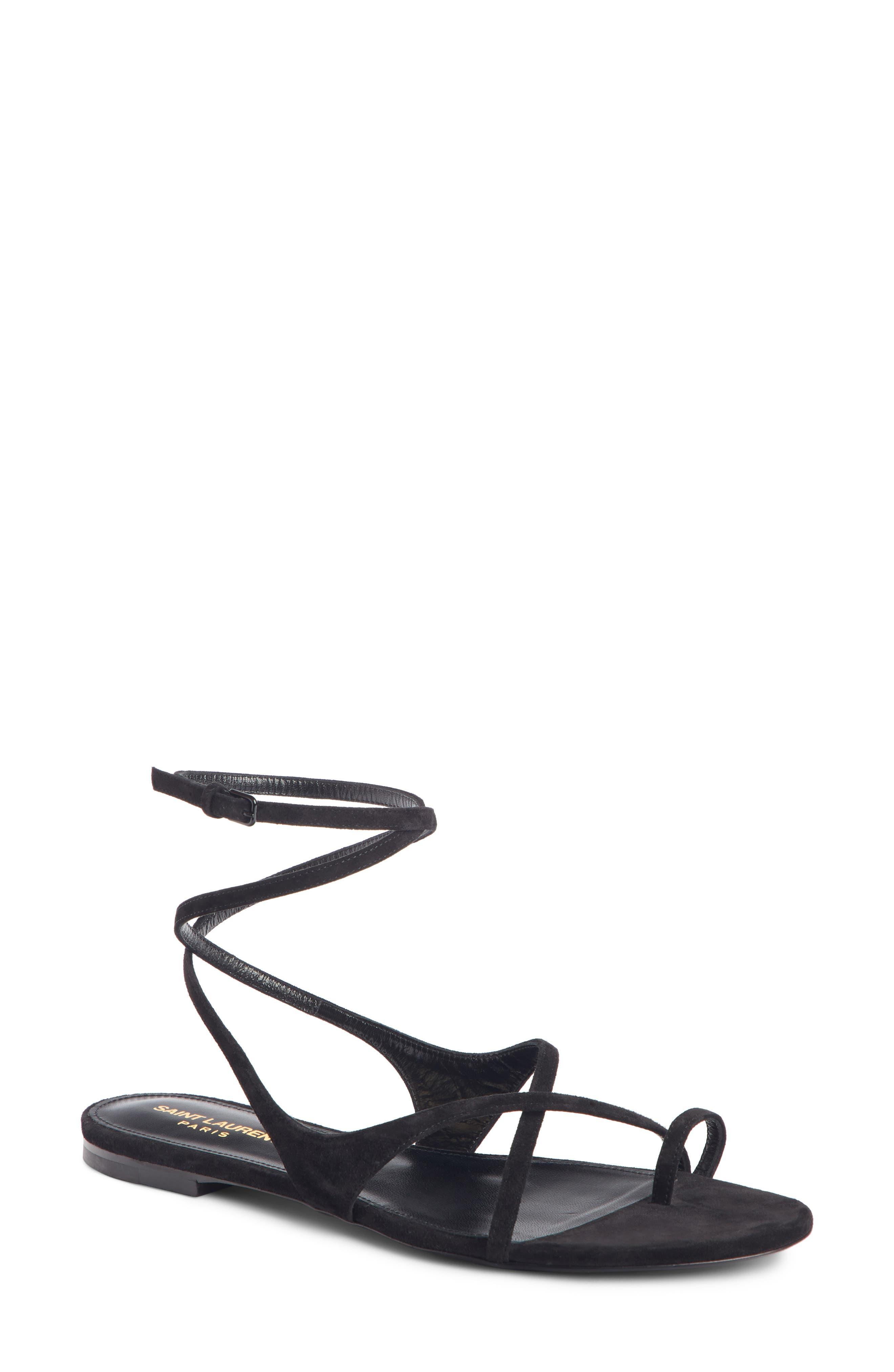 Saint Laurent Gia Nu Pieds Sandal, Black