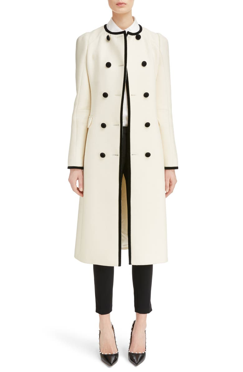 ALTUZARRA Bellasio Double Breasted Wool Coat, Main, color, NATURAL WHITE