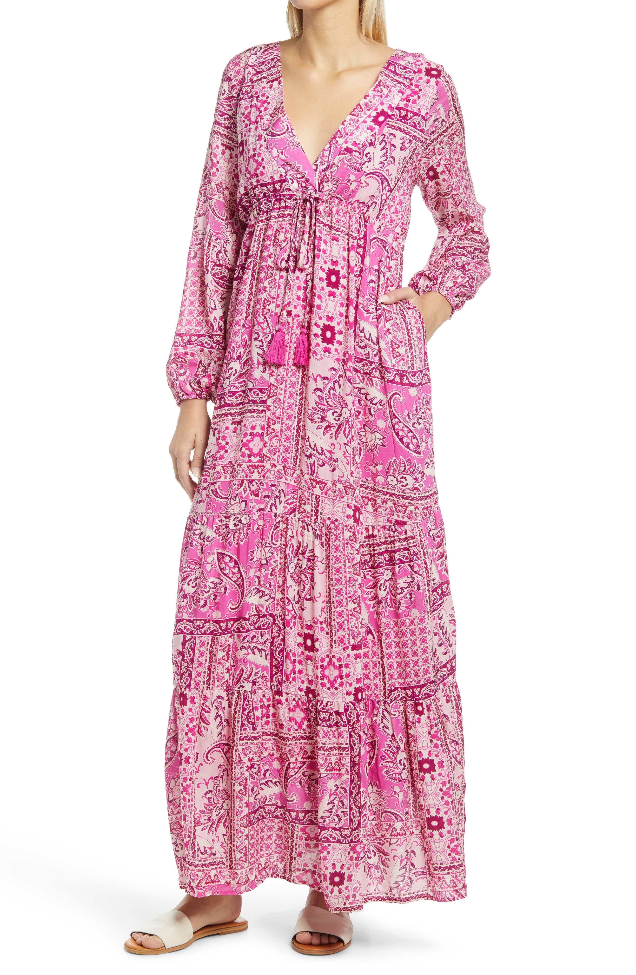 Boho Patchwork Long Sleeve Dress