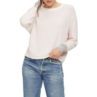 Michael Stars Chloe Madison Brushed Colorblock Pullover, Ivory
