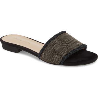 Pelle Moda Bayer Embellished Slide Sandal, Black