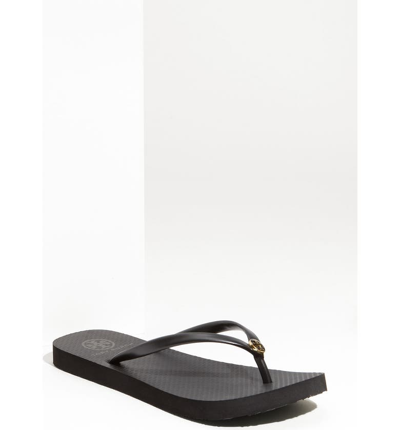 TORY BURCH 'Thin' Flip Flop, Main, color, BLACK BLACK