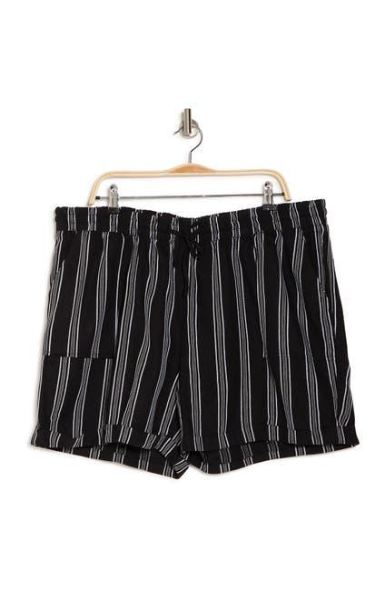 Image of ROYALTY FOR ME Stripe Drawstring Waist Shorts