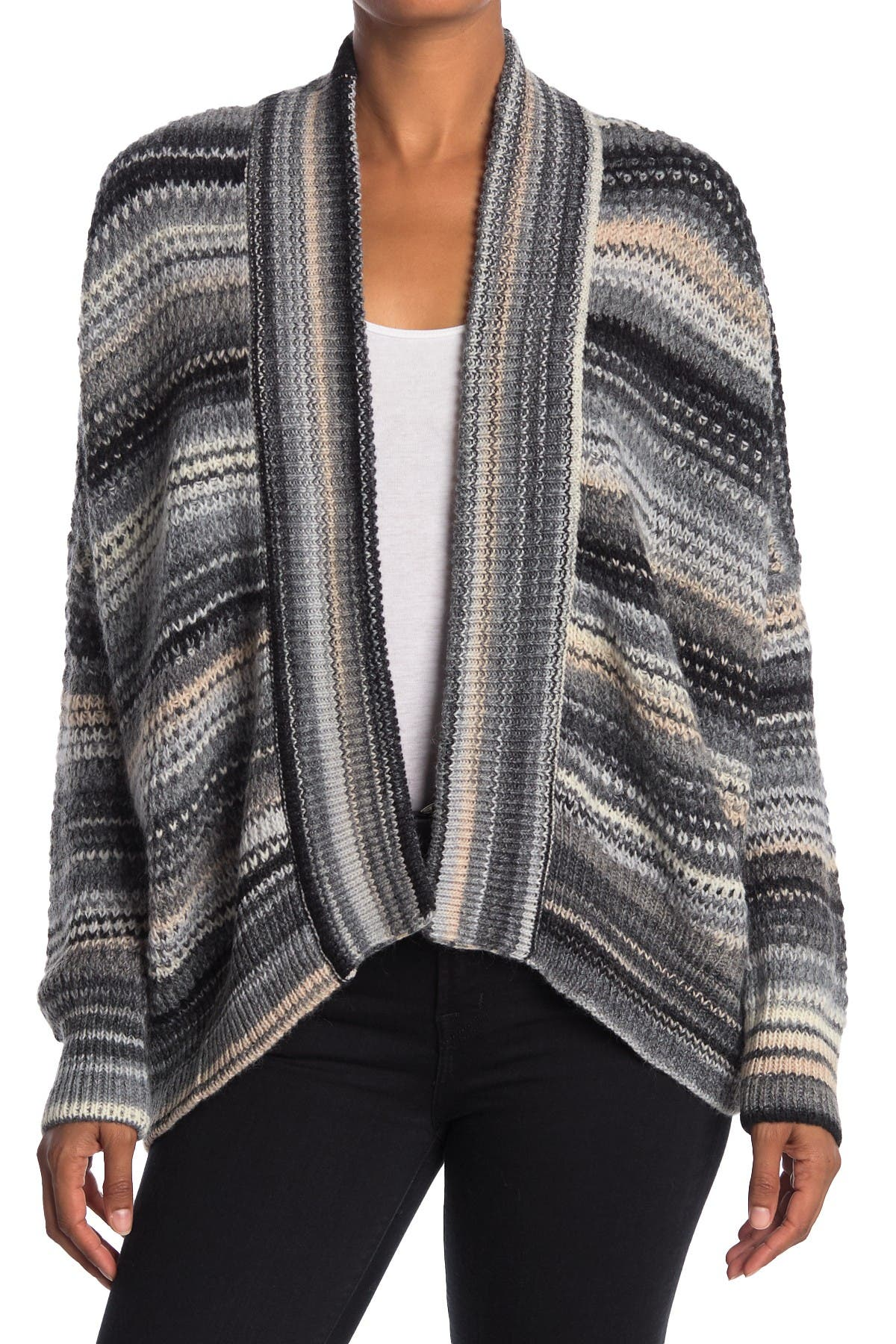 Image of Zadig & Voltaire Tanya Striped Dolman Wool Blend Cardigan