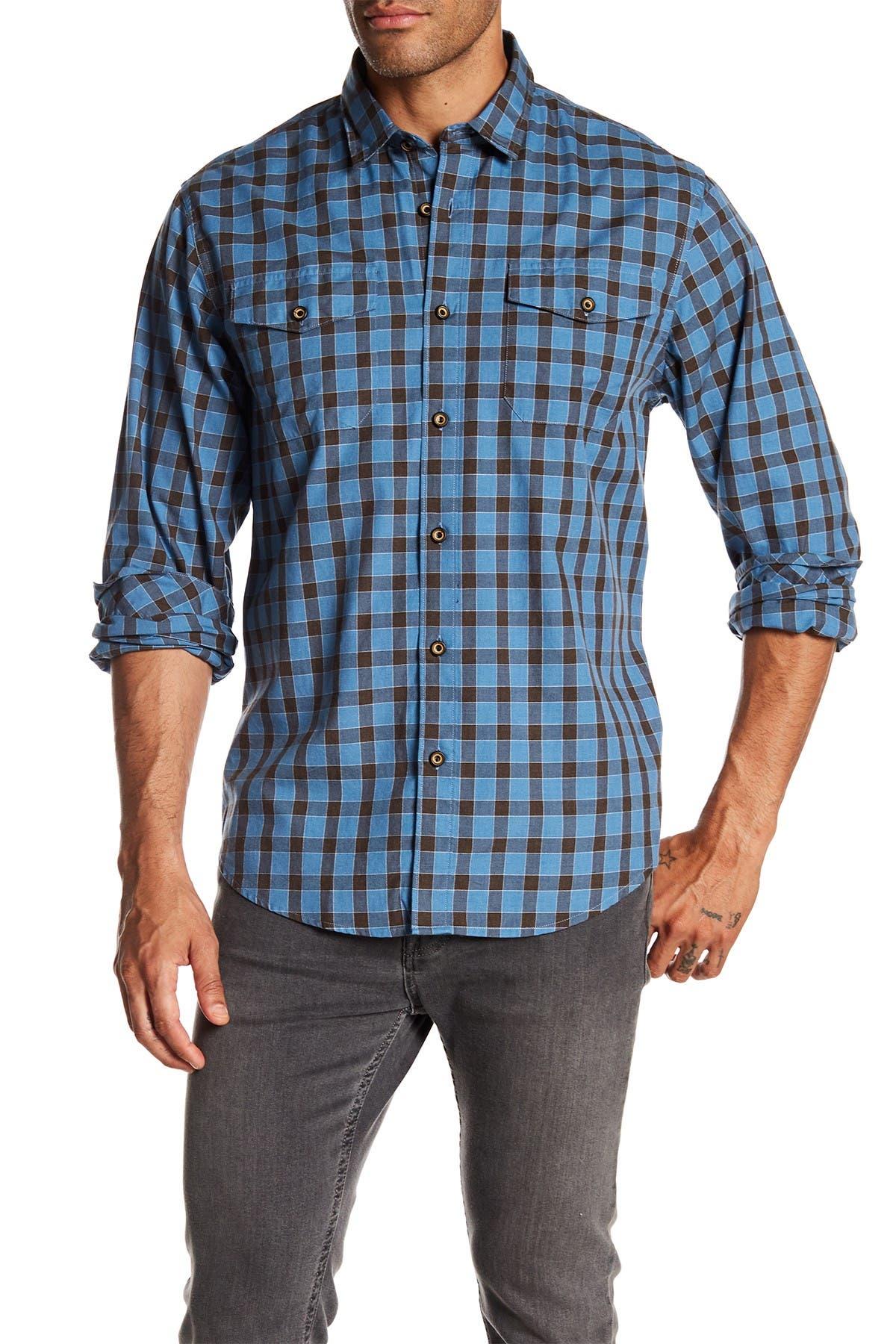Image of COASTAORO Lake Plaid Regular Fit Flannel Shirt