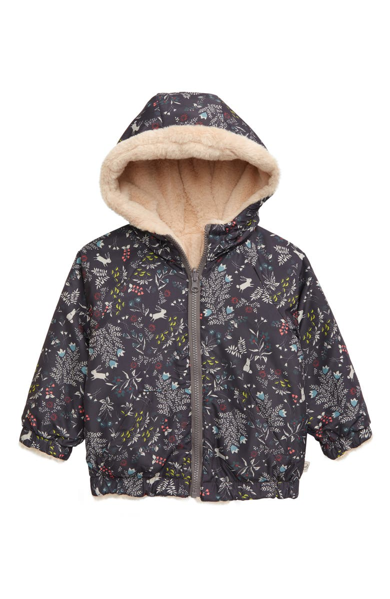 PEEK AREN'T YOU CURIOUS Andrea Faux Fur Reversible Hooded Jacket, Main, color, 200