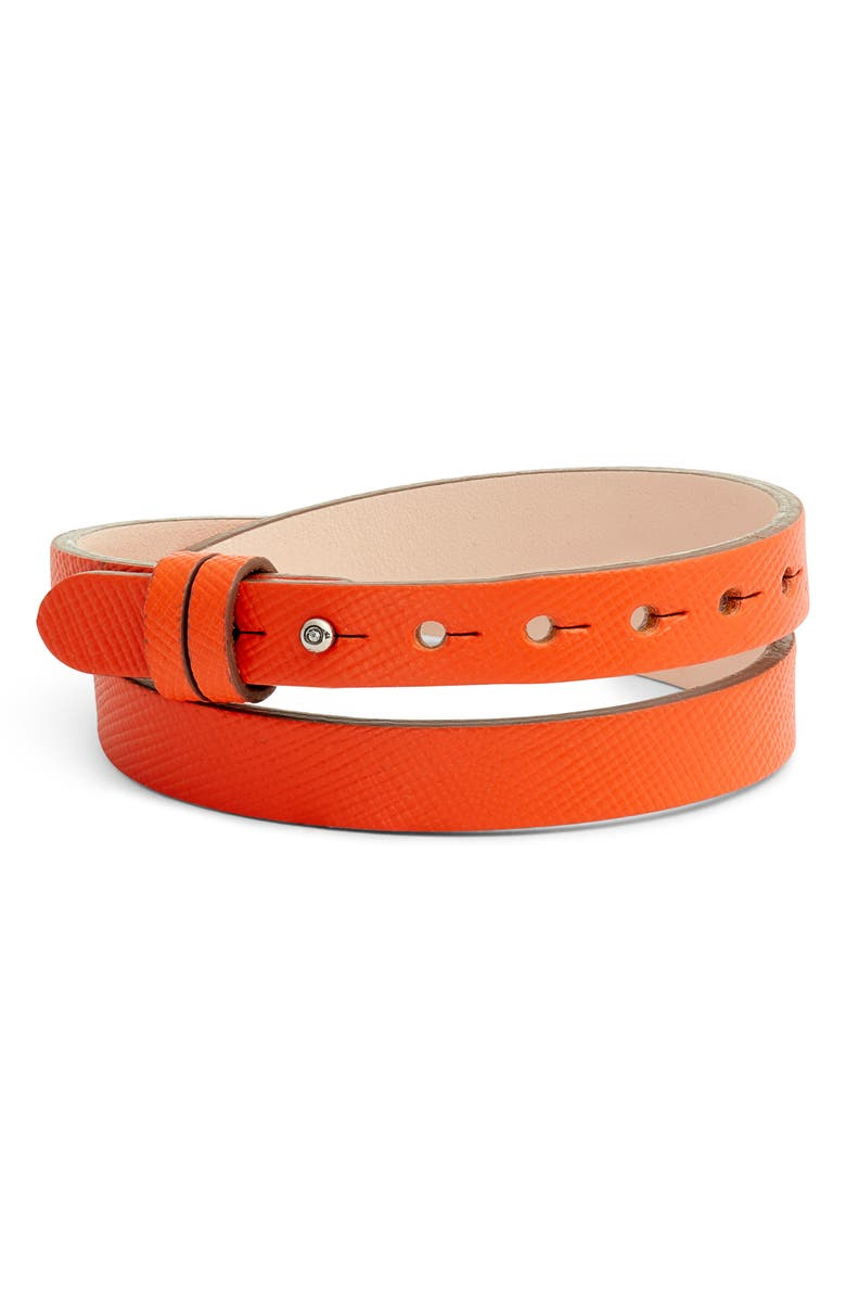 Leather Band Charm Bracelet