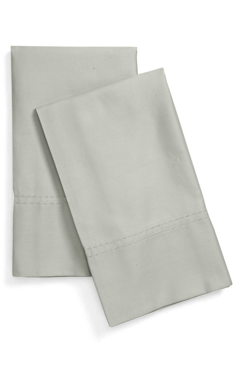 NORDSTROM 400 Thread Count Organic Cotton Pillowcases, Main, color, GREEN MIRROR