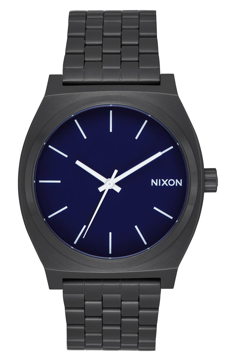 NIXON 'The Time Teller' Stainless Steel Bracelet Watch, 37mm, Main, color, 005