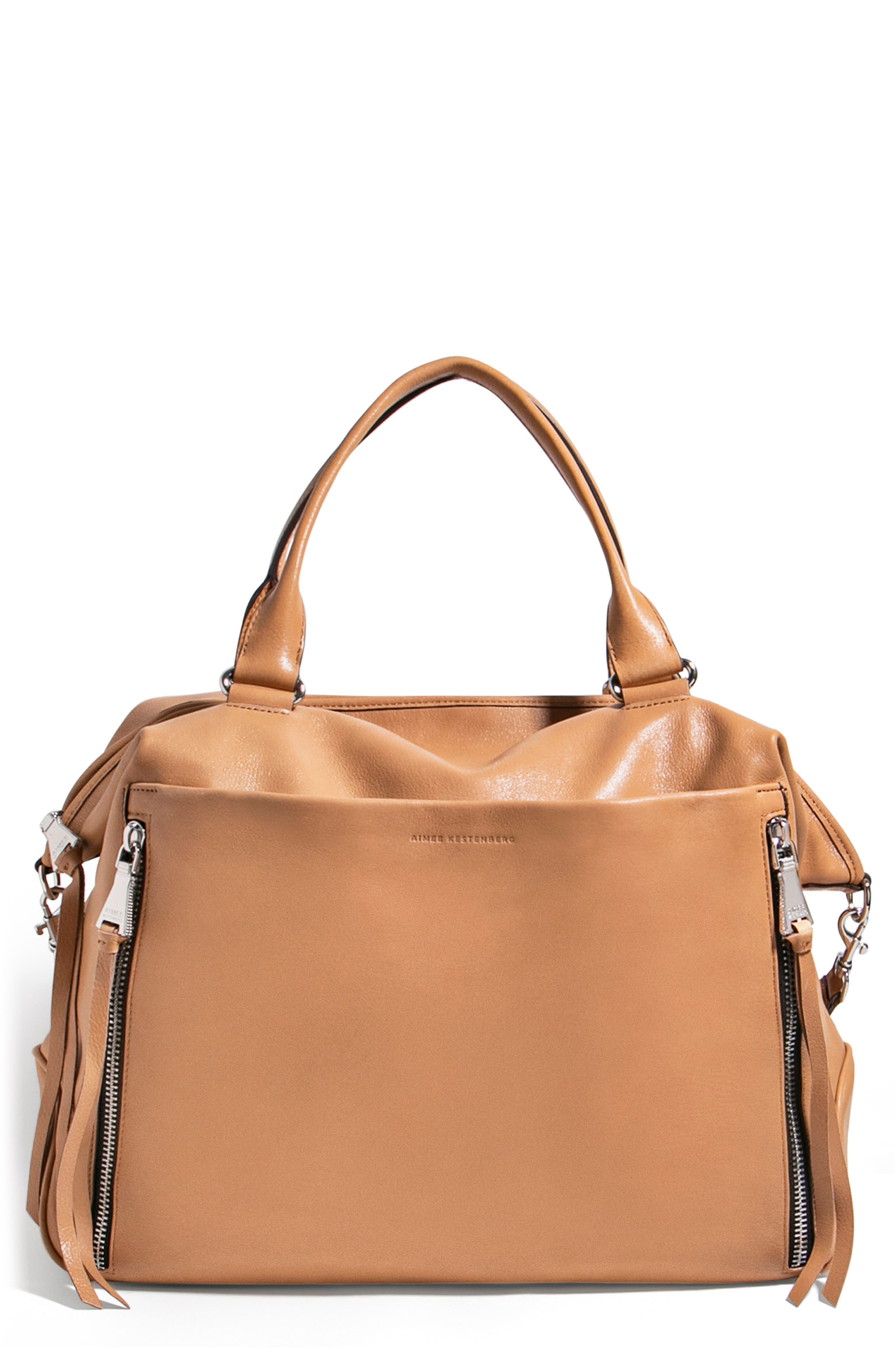 Let's Ride Overnighter Leather Satchel