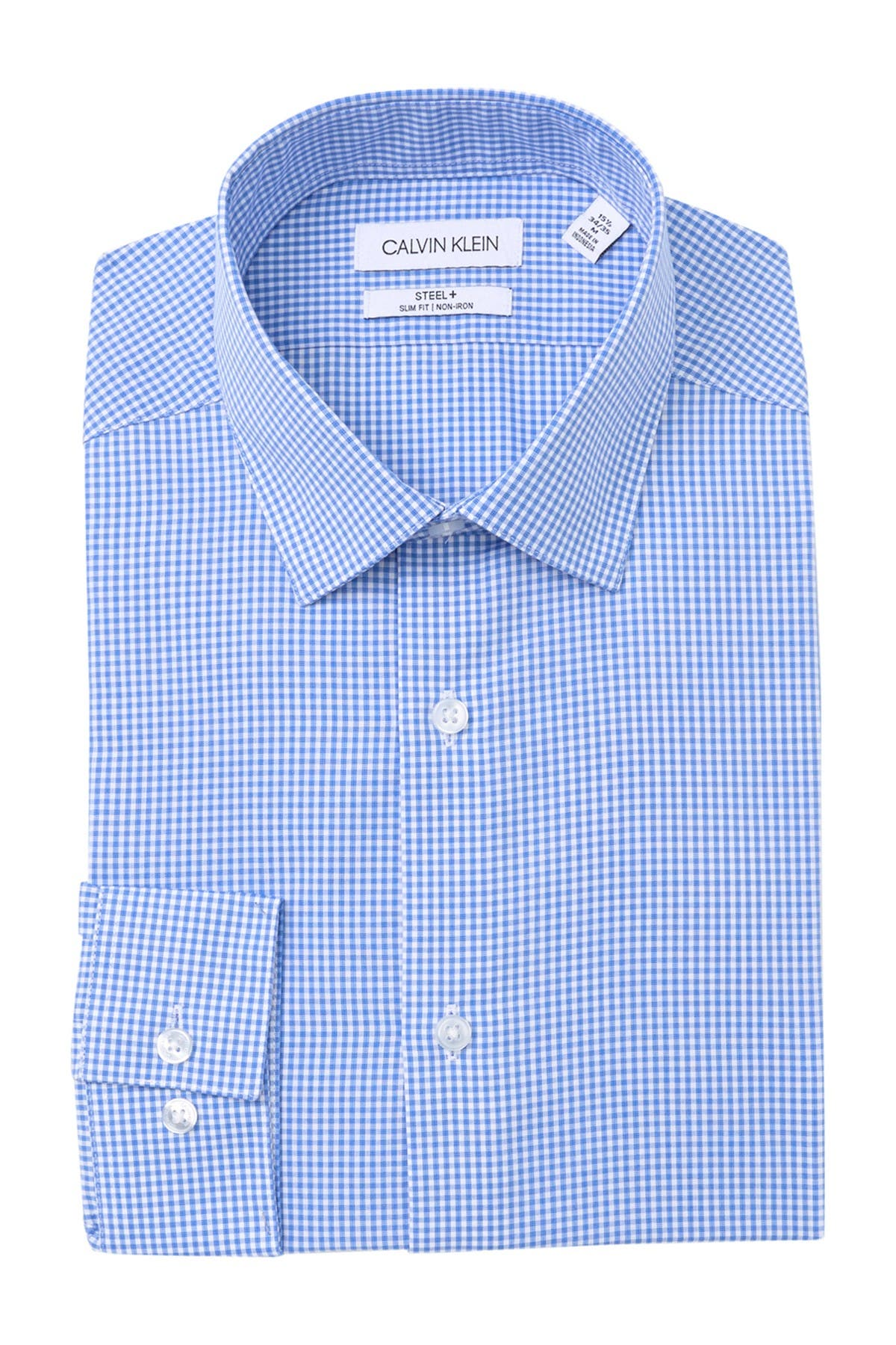 Image of Calvin Klein Steel+ Slim Fit Non-Iron Dress Shirt