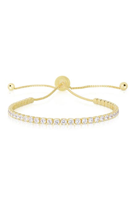 Image of Sphera Milano 14K Yellow Gold Plated Sterling Silver CZ Tennis Bracelet