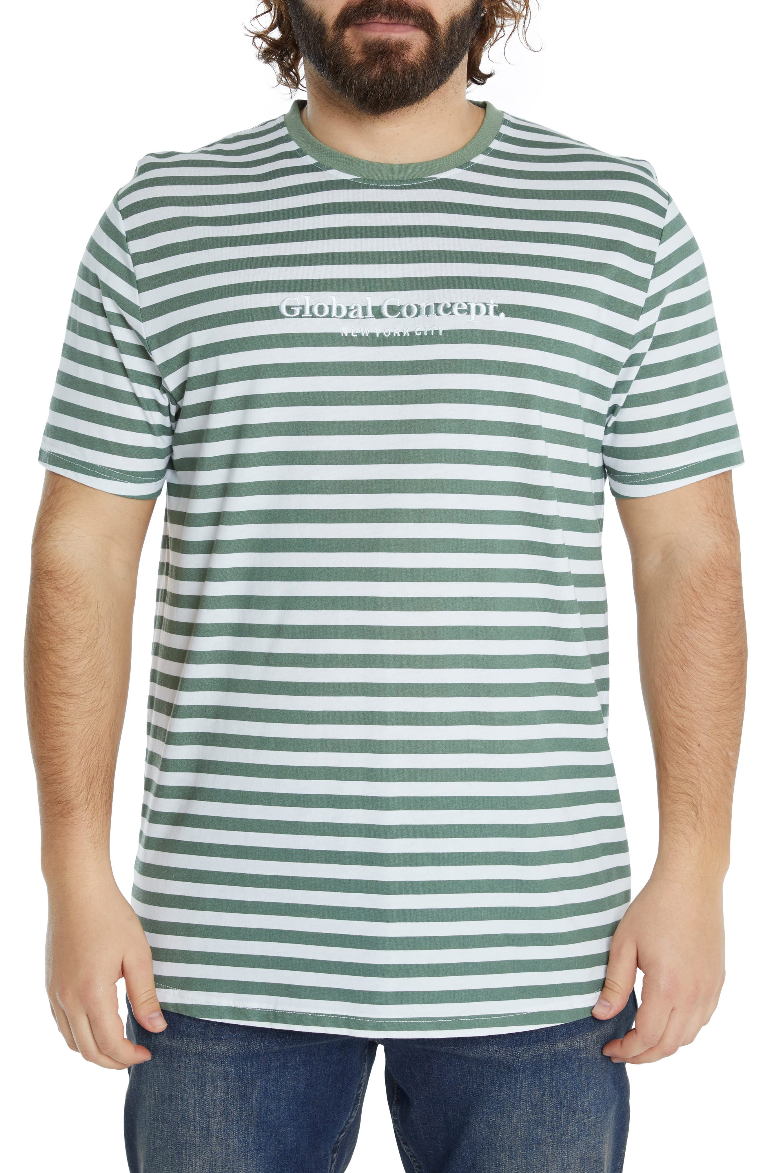 Global Concept Longline Cotton T-Shirt