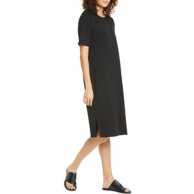Eileen Fisher Stretch Tencel Lyocell T-Shirt Dress, Black