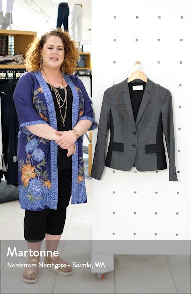 Jesuleana Micro Pattern Suit Jacket, sales video thumbnail