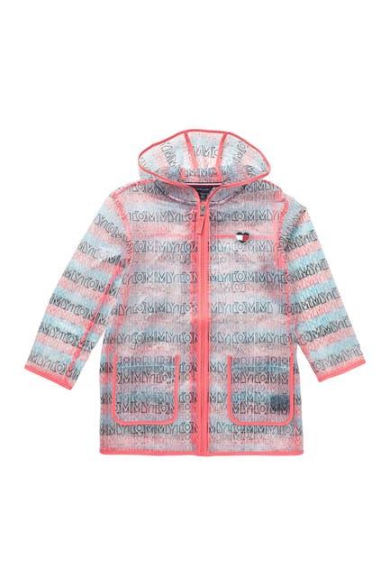 Image of Tommy Hilfiger Translucent Contrast Trim Raincoat