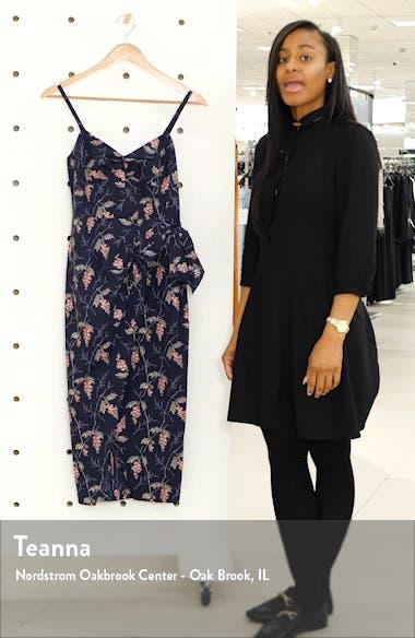 Ivie Floral Sleeveless Cotton Midi Sundress, sales video thumbnail