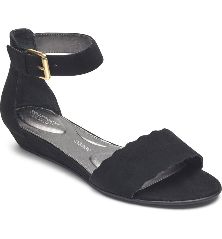 ROCKPORT Zandra Total Motion<sup>®</sup> Ankle Strap Sandal, Main, color, 001