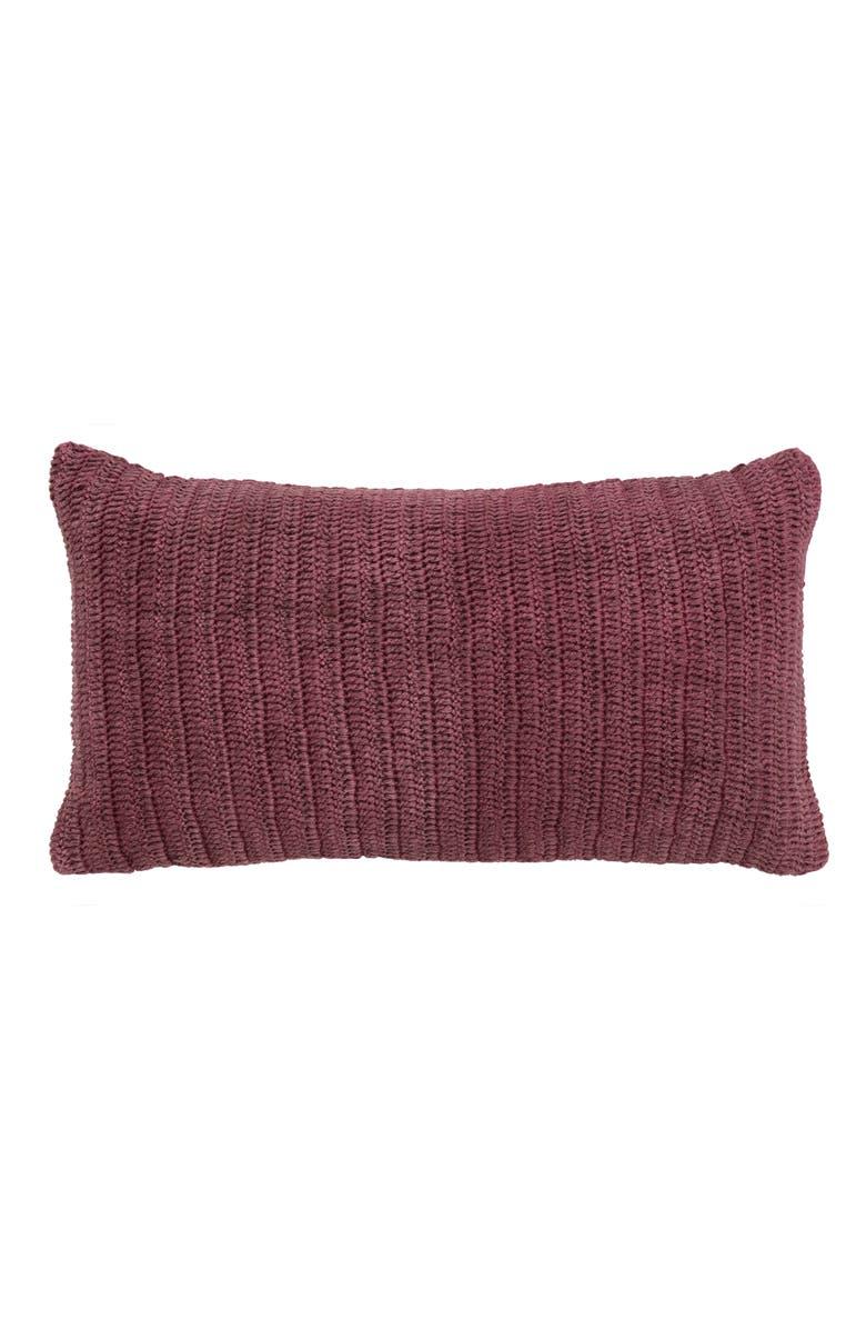 VILLA HOME COLLECTION Rina Accent Pillow, Main, color, BERRY