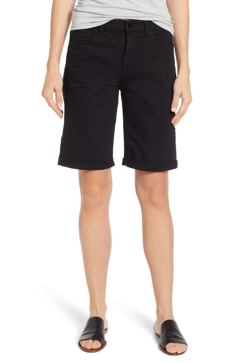 Rolled Cuff Stretch Cotton Bermuda Shorts by Jen7 By 7 For All Mankind