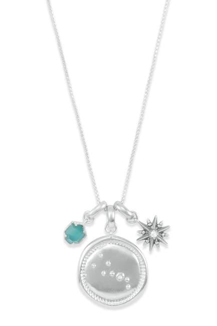 Image of Kendra Scott Rhodium Plated Taurus Charm Necklace