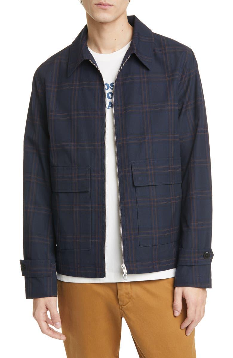 CLOSED Check Jacket, Main, color, BLUE