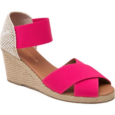 Andre Assous Erika Espadrille Wedge, Pink
