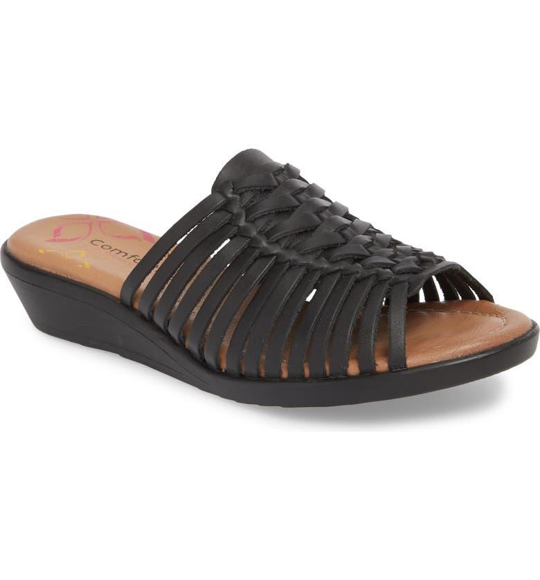 COMFORTIVA Felida Huarache Slide Sandal, Main, color, 001