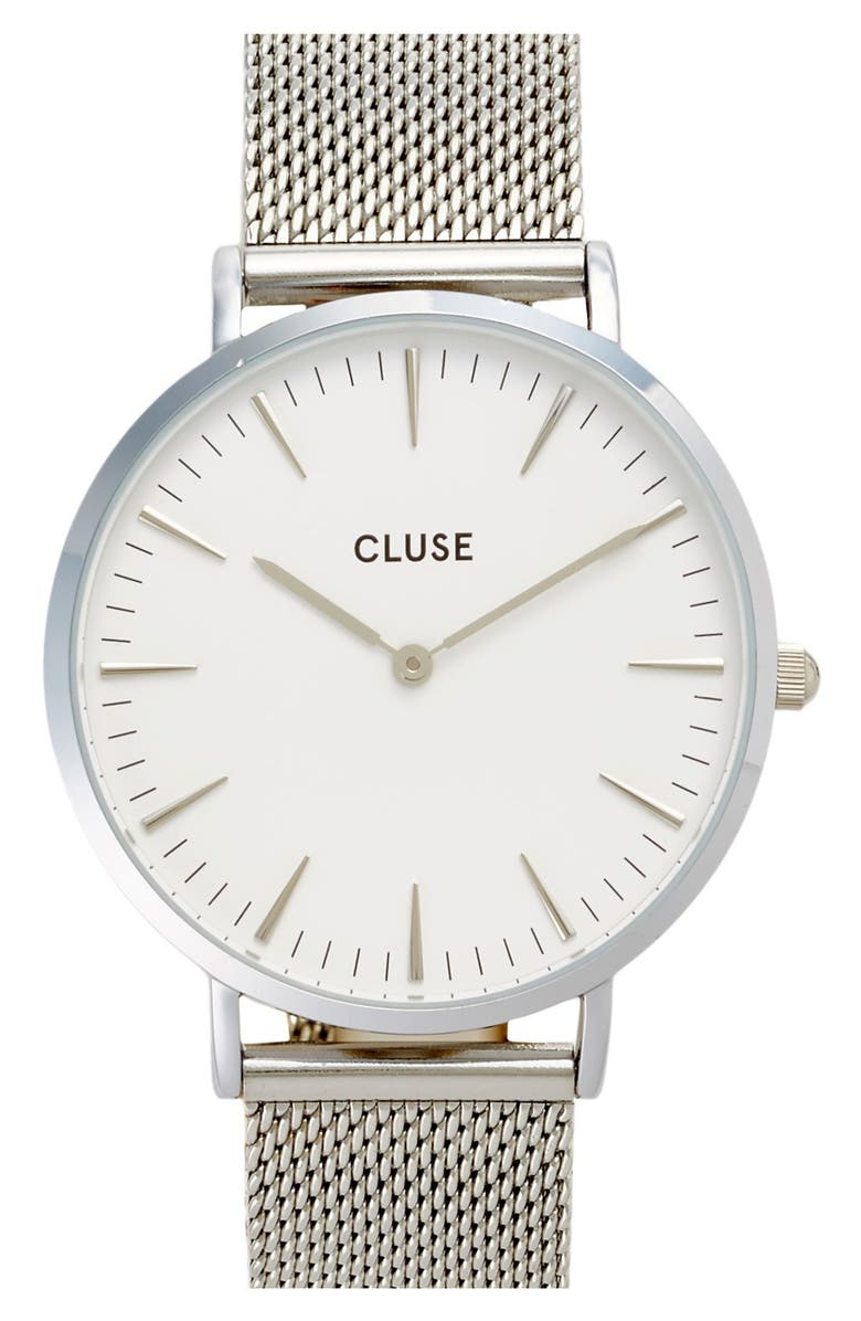 CLUSE 'La Bohème' Mesh Strap Watch, 38mm, Main, color, 040
