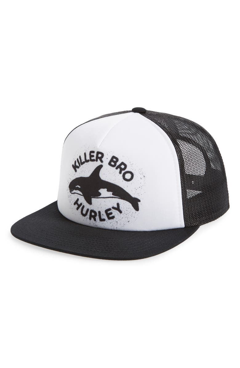 HURLEY Mixtape 2.0 Trucker Hat, Main, color, WHITE