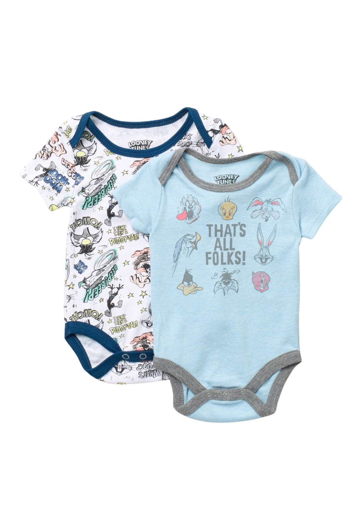 Image of HAPPY THREADS Looney Tunes Bodysuits - Pack of 2