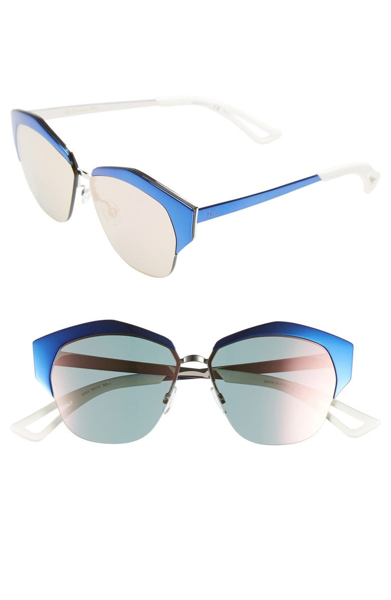 DIOR 'Mirrors' 55mm Cat Eye Sunglasses, Main, color, 001