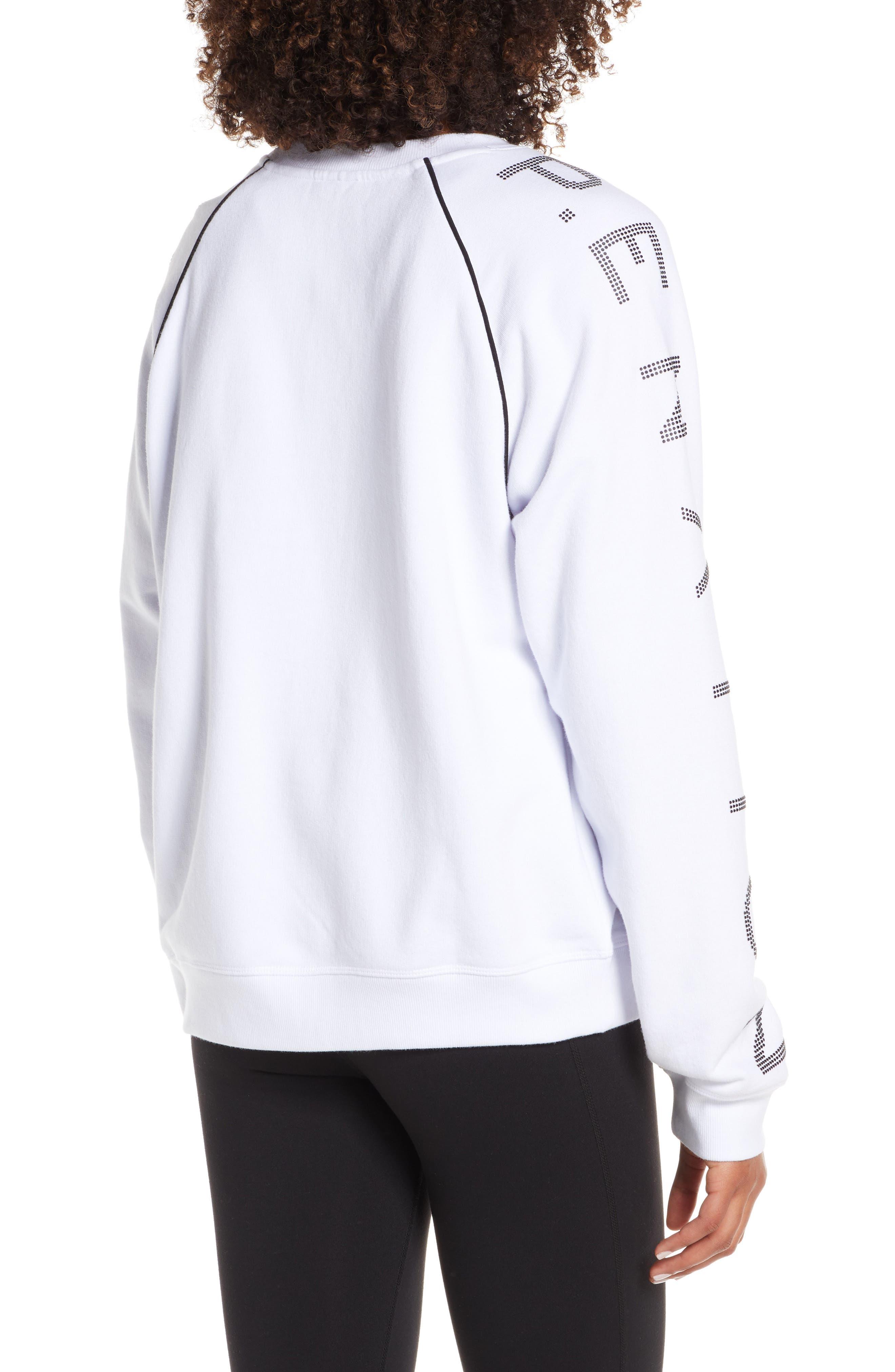 ,                             Highline Sweatshirt,                             Alternate thumbnail 2, color,                             WHITE/ BLACK