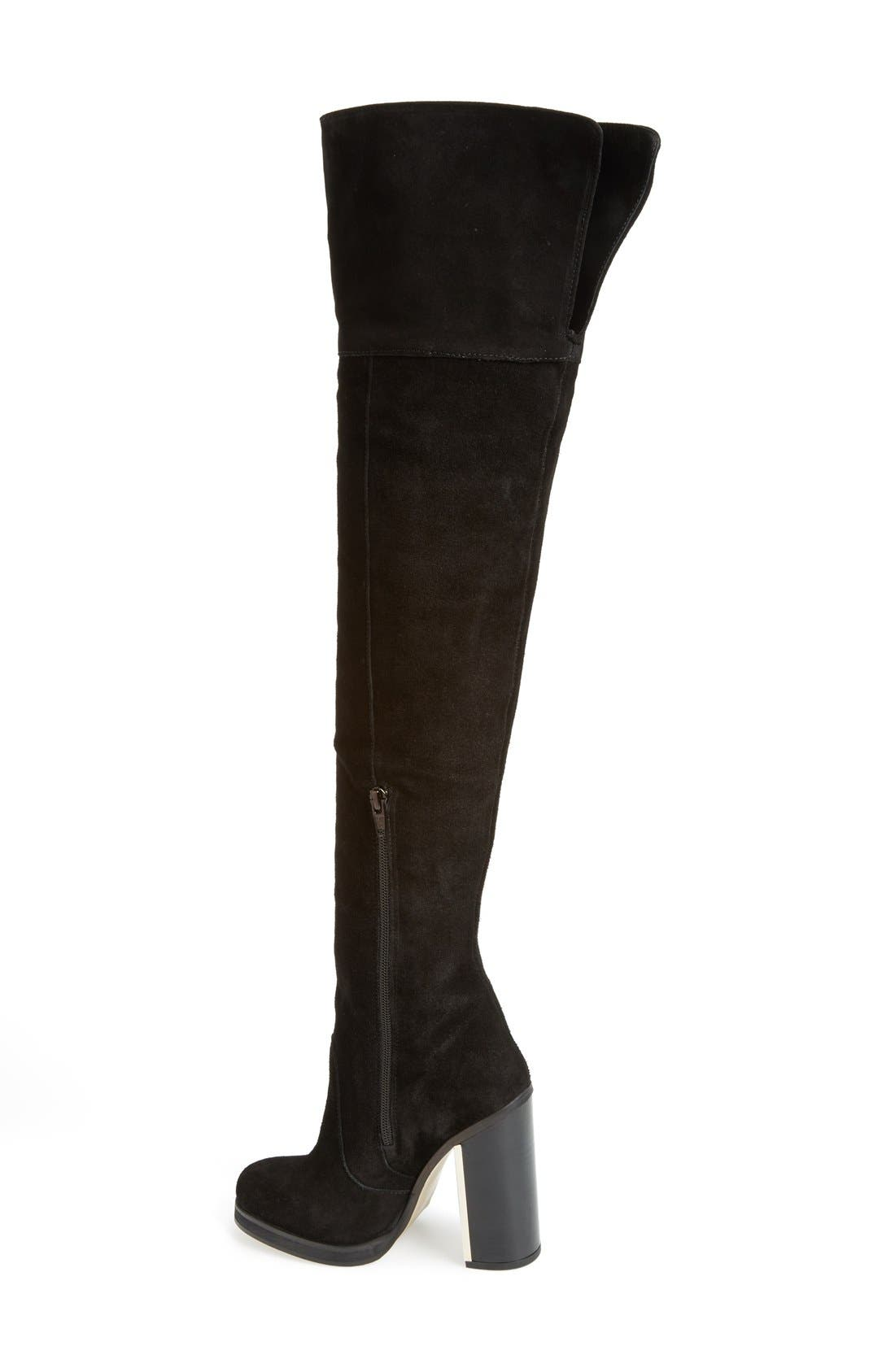 ,                             'Carbon' Over the Knee Boot,                             Alternate thumbnail 2, color,                             001