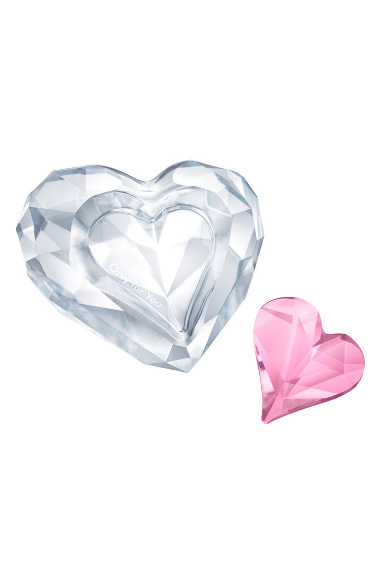 SWAROVSKI Crystal Only for You Crystal Heart, Main, color, CLEAR/ PINK