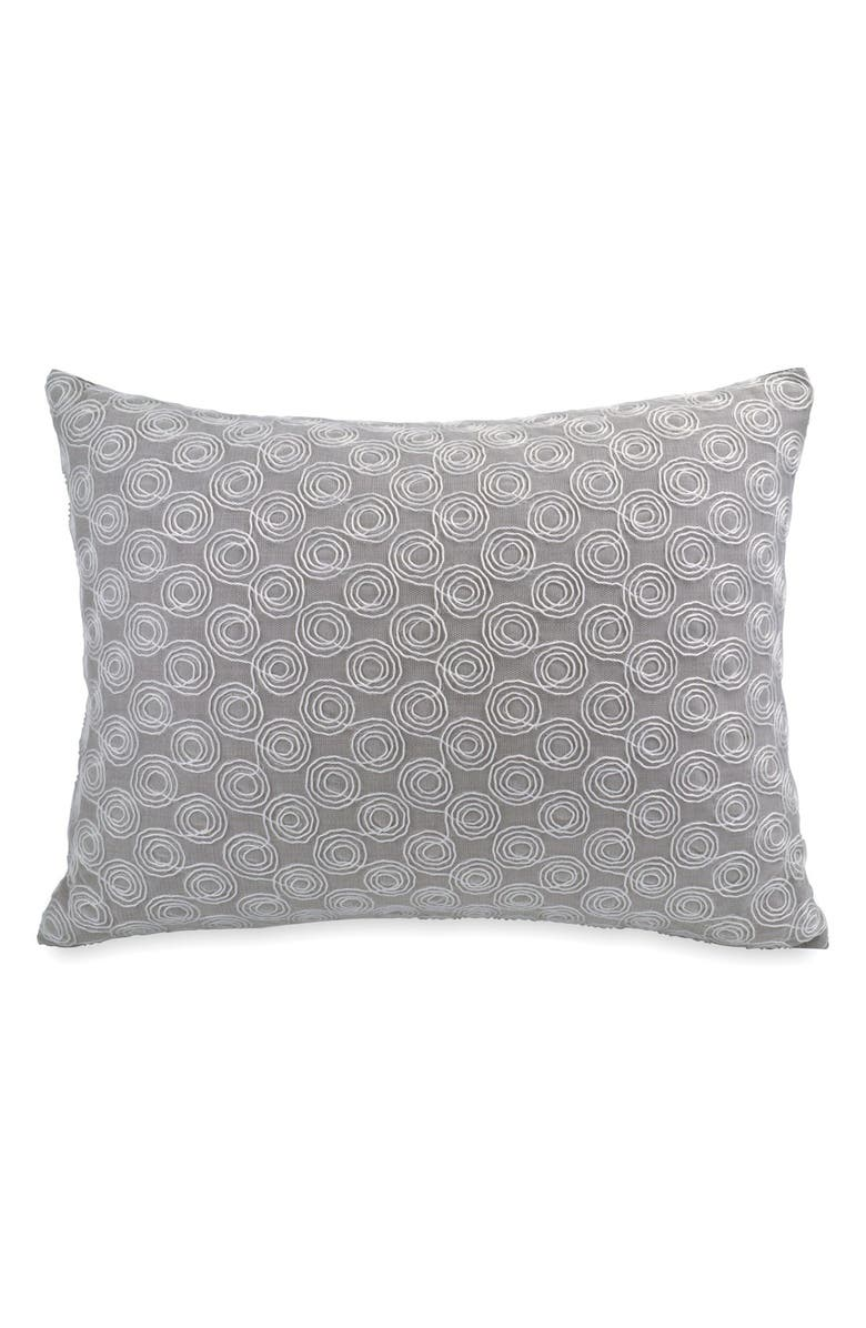 DKNY 'Loft Stripe' Embroidered Pillow, Main, color, GREY