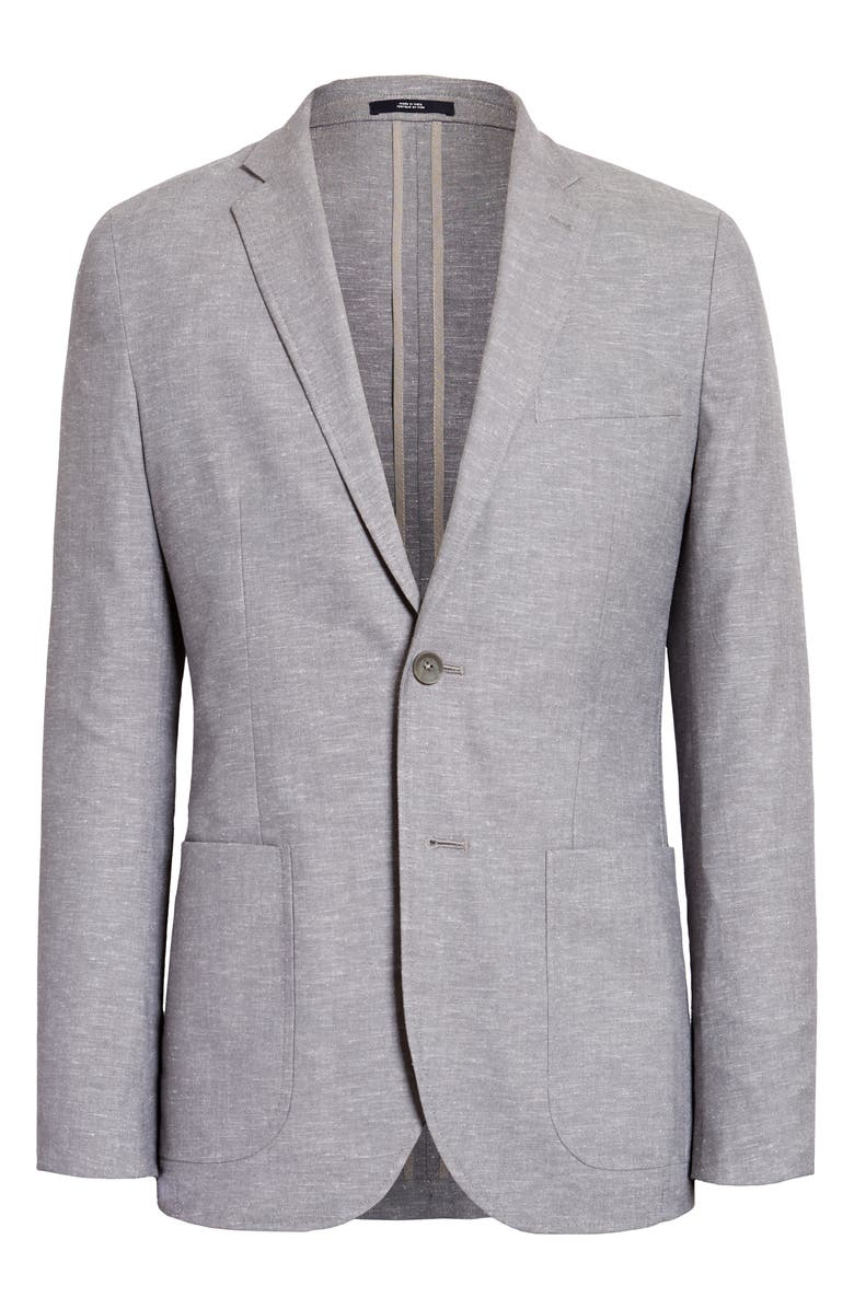 1901 Chambray Sport Coat, Main, color, GREY GRISALLE CHAMBRAY