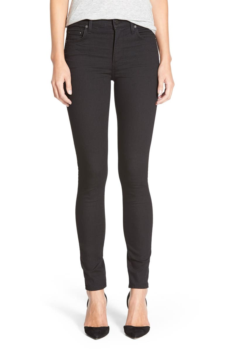 CITIZENS OF HUMANITY 'Rocket' High Rise Skinny Jeans, Main, color, 001