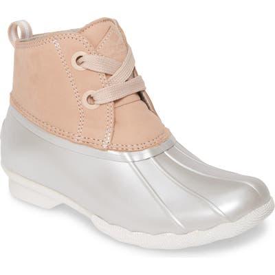 Sperry Saltwater Waterproof Rain Boot, Pink