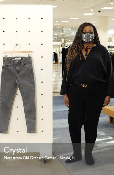 New Grey Jamie High Waist Crop Skinny Jeans, sales video thumbnail