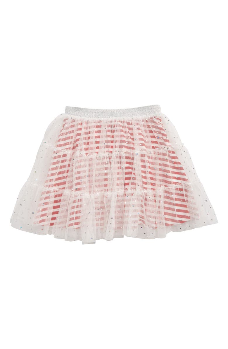 TRULY ME Hologram Tiered Skirt, Main, color, 100