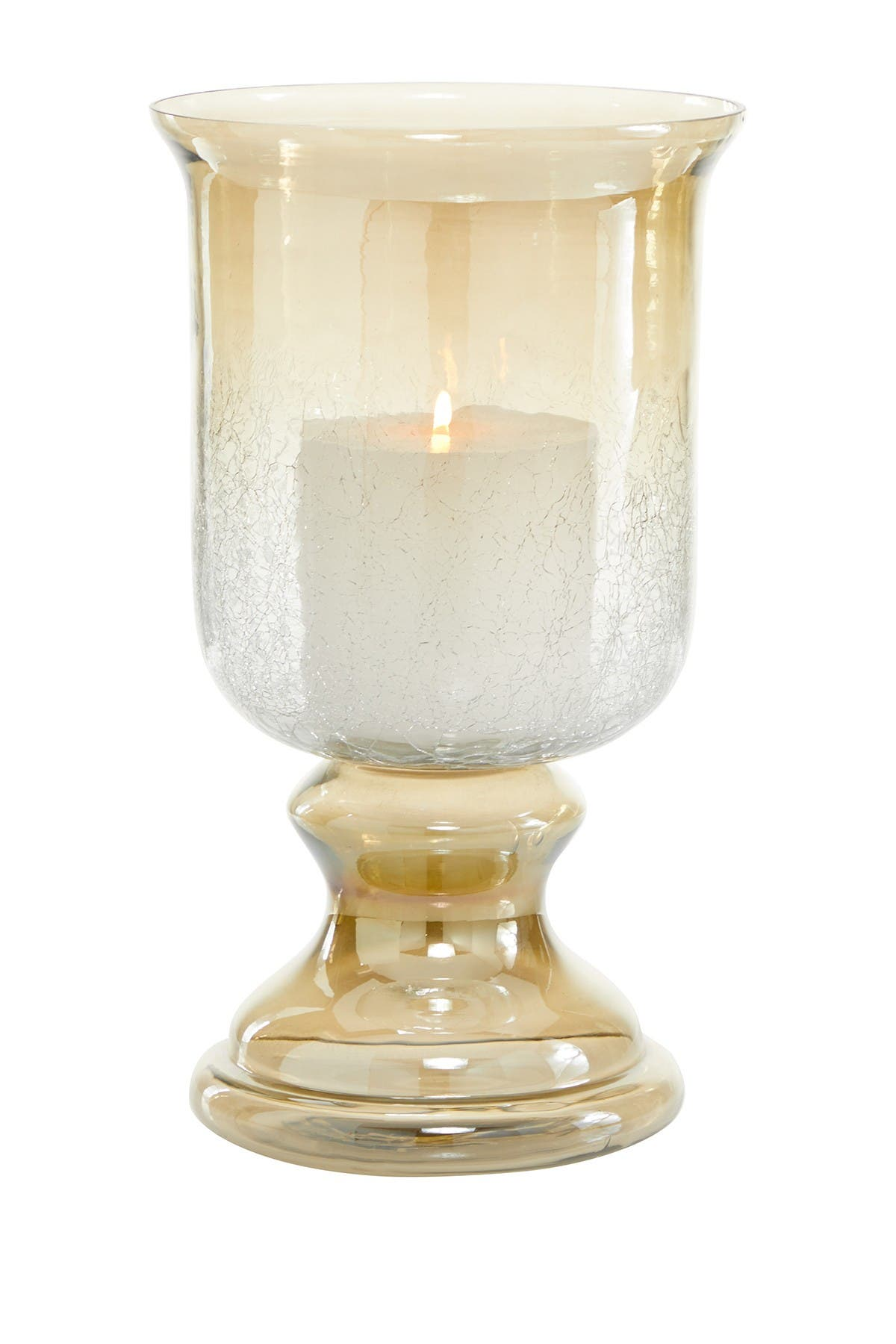 Willow Row Traditional 14 X 8 Bronze Tinged Glass Hurricane Candle Lamp Nordstrom Rack