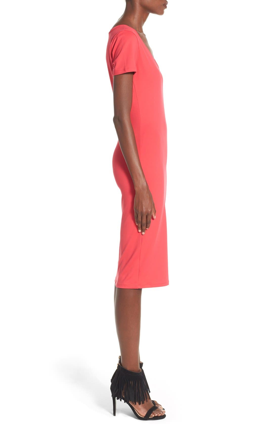 ,                             V-Neck Body-Con Dress,                             Alternate thumbnail 33, color,                             605