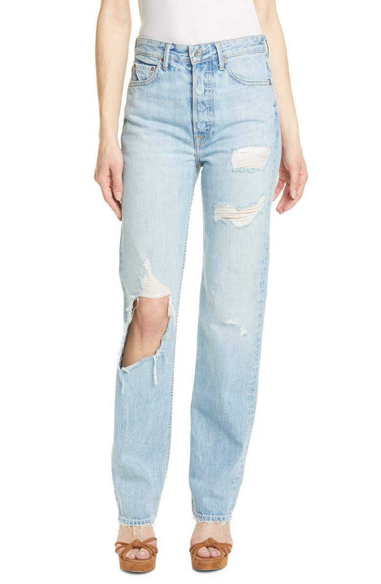 GRLFRND Mica Ripped Jeans, Main, color, TO THE LIMIT