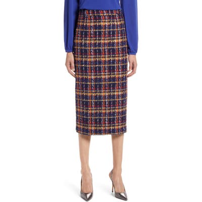 Halogen Tweed Pencil Skirt, Blue