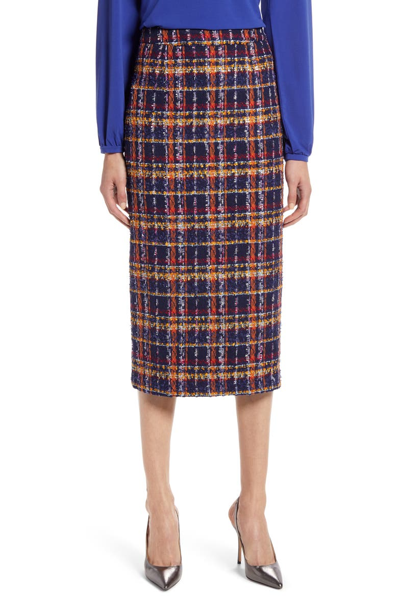 HALOGEN<SUP>®</SUP> Tweed Pencil Skirt, Main, color, 410