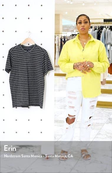 Slim Fit Heather Stripe Jersey T-Shirt, sales video thumbnail