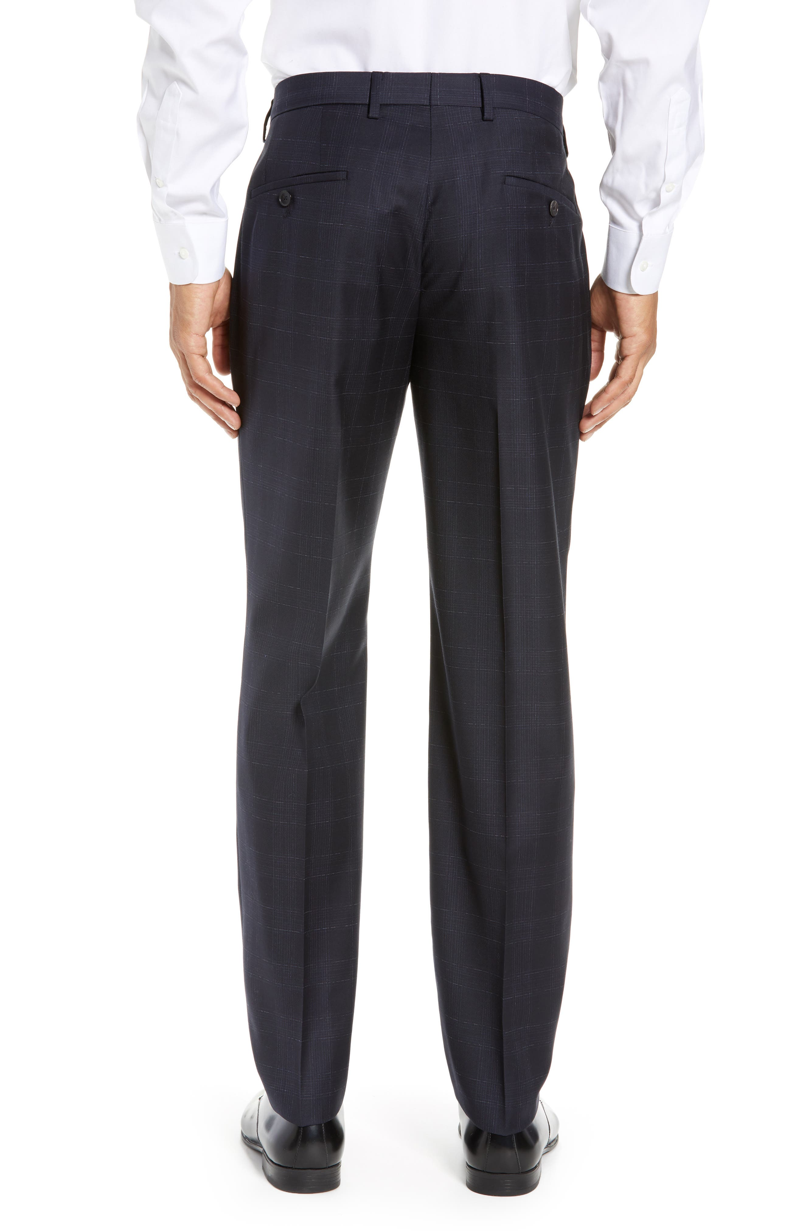 ,                             Genesis Flat Front Plaid Wool Trousers,                             Alternate thumbnail 8, color,                             411
