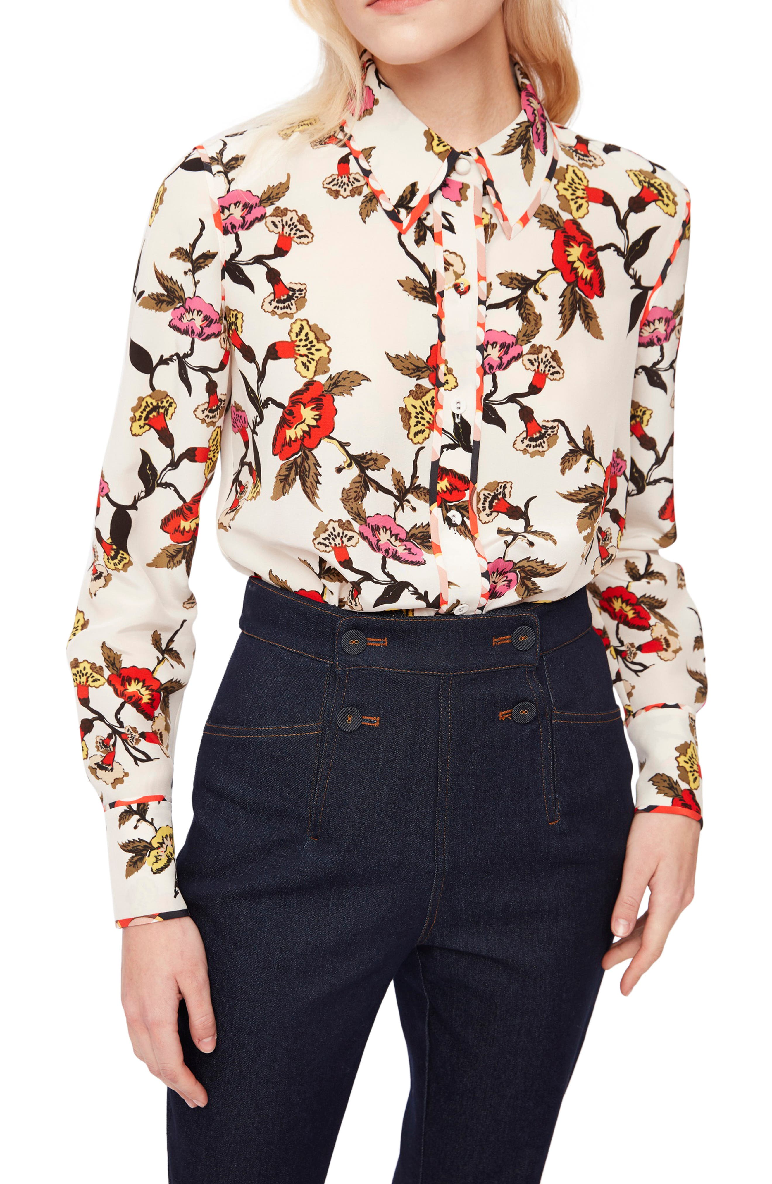 Kate Charlottenburg Floral Button-Up Shirt